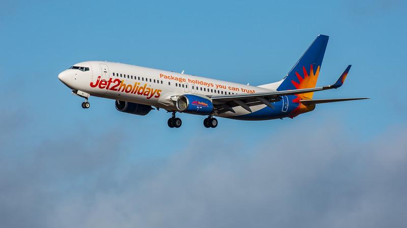 Jet2 - Boeing 737-8MG (G-JZBH) - Edinburgh Airport (February 2020)
