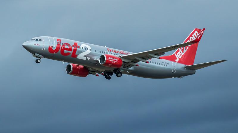 Jet2 - Boeing 737-8MG (G-JZHY) - Edinburgh Airport (March 2020)