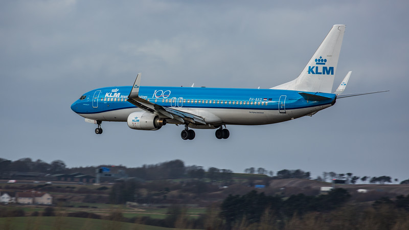 KLM - Boeing 737-8K2 (PH-BXD) - Edinburgh Airport (February 2020)