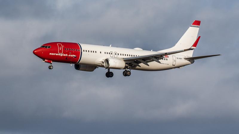 Norwegian Airways - Boeing 737-8JP (SE-RPT) - Edinburgh Airport (February 2020)