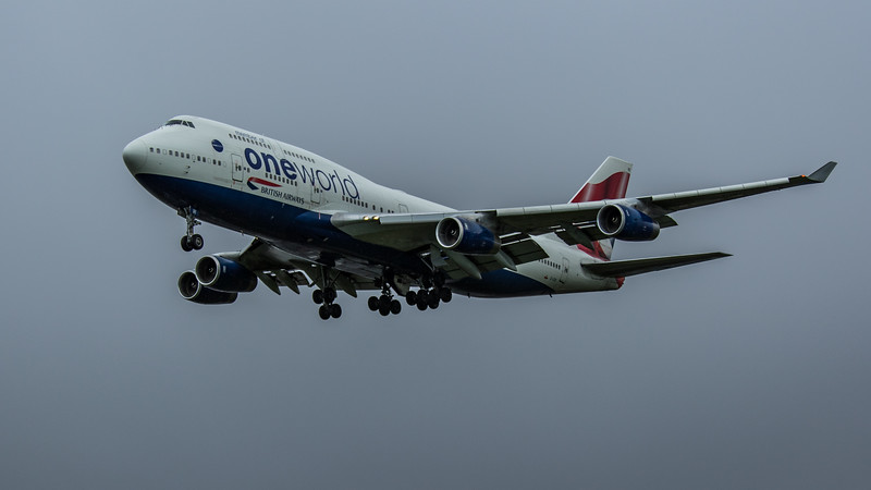 British Airways (One World Livery)  - Boeing 747-436 (G-CIVI) - Heathrow Airport (February 2020)