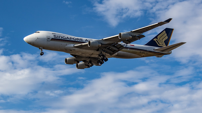 Singapore Airlines Cargo - Boeing 747-412F(SCD) (9V-SFQ) - Heathrow Airport (July 2020)