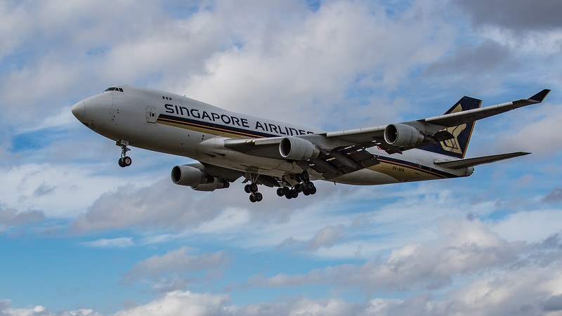 Singapore Airlines Cargo - Boeing 747-412F(SCD) (9V-SFK) - Heathrow Airport (June 2020)