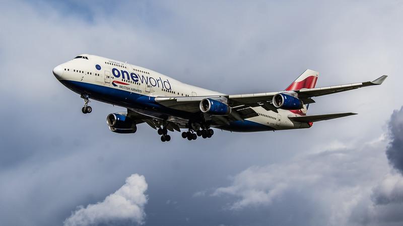British Airways (One World Livery) - Boeing 747-436 (G-CIVK) - Heathrow Airport (March 2019)