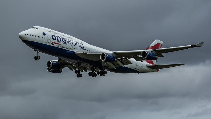 British Airways (One World Livery)  - Boeing 747-436 (G-CIVM) - Heathrow Airport (February 2020)