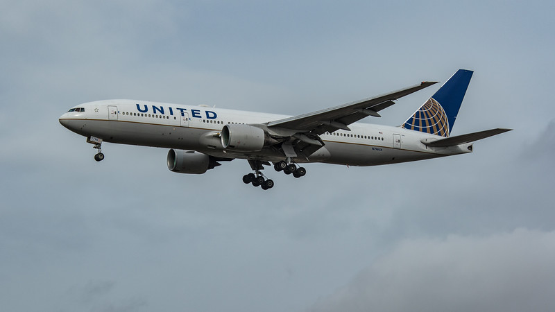 United Airlines - Boeing 777-222(ER) (N796UA) - Heathrow Airport (March 2020)