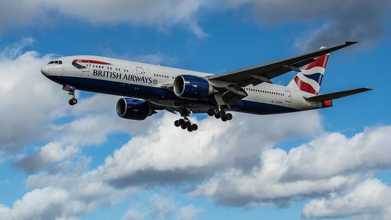 British Airways - Boeing 777-236 (G-ZZZA) - Heathrow Airport (March 2020)
