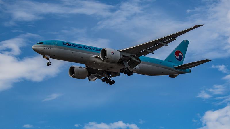Korean Air Cargo - Boeing 777-FB5 (HL8077) - Heathrow Airport (July 2020)