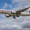 Qatar Cargo - Boeing 777-FDZ (A7-BFI) - Heathrow Airport (June 2020)