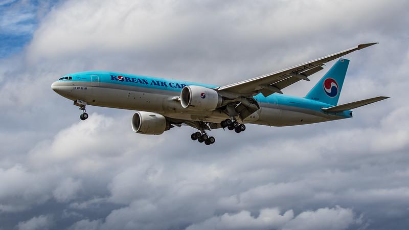 Korean Air Cargo - Boeing 777-FB5 (HL8044) - Heathrow Airport (June 2020)