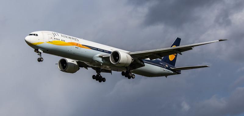 Jet Airways - Boeing 777-35R(ER)  (VT-JEW) - Heathrow Airport (March 2019)