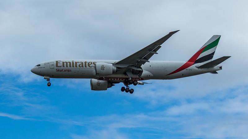 Emirates Sky Cargo - Boeing 777-F1H (A6-EFK) - Heathrow Airport (June 2020)