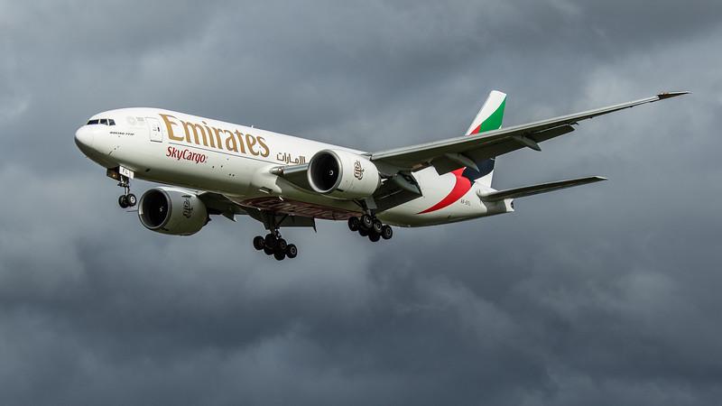 Emirates Sky Cargo - Boeing 777-F1H (A6-EFL) - Heathrow Airport (February 2020)