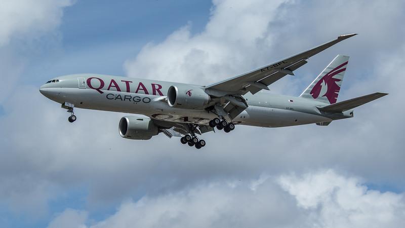 Qatar Cargo - Boeing 777-FDZ (A7-BFL) - Heathrow Airport (June 2020)