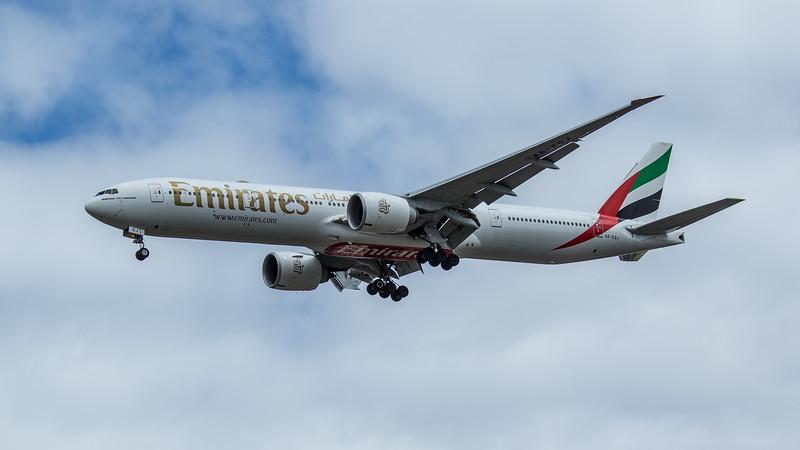 Emirates - Boeing 777-31H(ER) (A6-EQJ) - Heathrow Airport (June 2020)