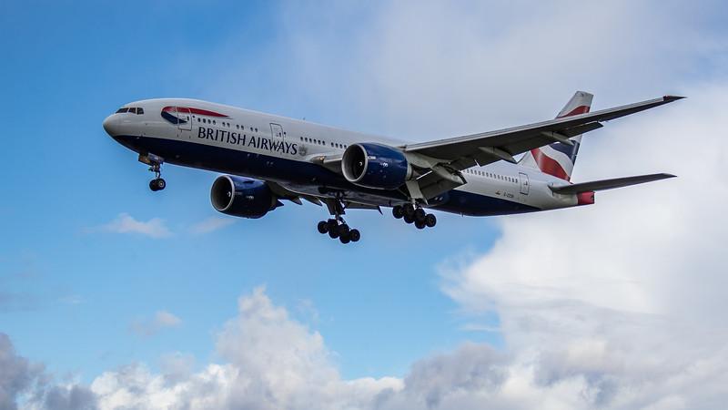 British Airways - Boeing 777-236 (G-ZZZB) - Heathrow Airport (March 2019)