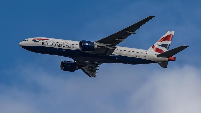 British Airways - Boeing 777-236(ER) (G-RAES) - Heathrow Airport (March 2020)