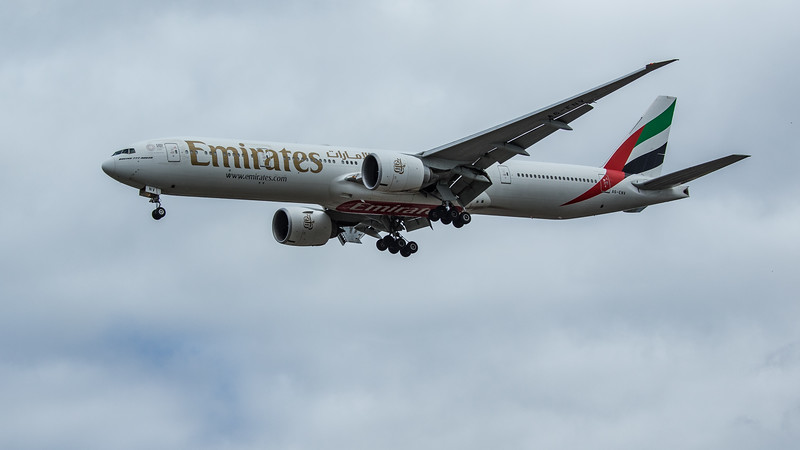 Emirates - Boeing 777-31H(ER) (A6-ENV) - Heathrow Airport (June 2020)