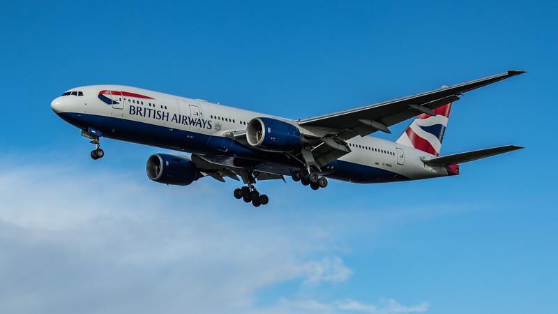 British Airways - Boeing 777-236(ER) (G-YMMG) - Heathrow Airport (February 2020)