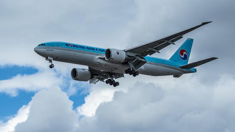 Korean Air Cargo - Boeing 777-FB5 (HL8251) - Heathrow Airport (June 2020)