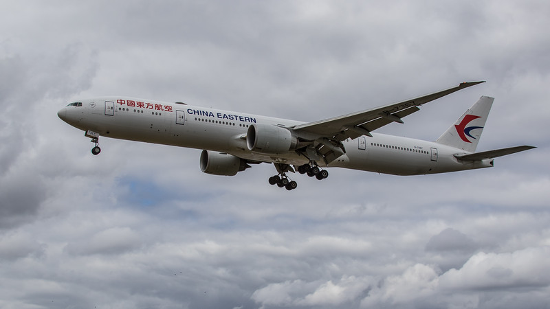 China Eastern Airlines - Boeing 777-39P(ER) (B-7367) - Heathrow Airport (June 2020)