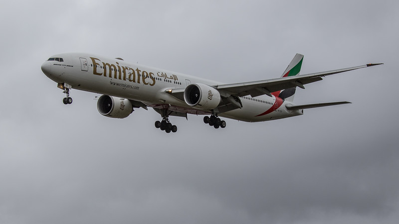 Emirates - Boeing 777-31H(ER) (A6-EQI) - Heathrow Airport (June 2020)