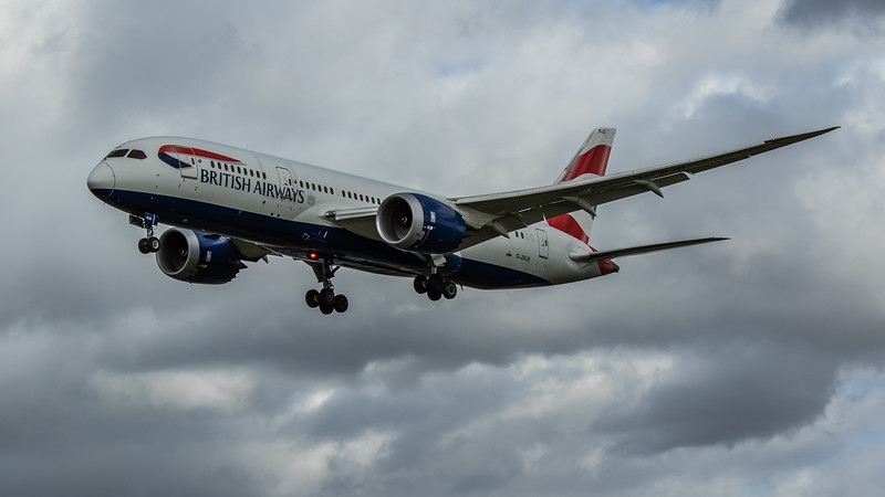 British Airways - Boeing 787-8 Dreamliner (G-ZBJD) - Heathrow Airport (March 2020)