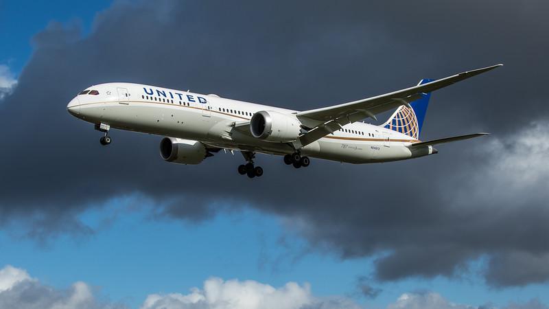 United Airlines - Boeing 787-9 Dreamliner (N24973) - Heathrow Airport (February 2020)