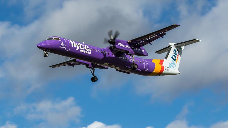 Flybe - De Havilland Canada Dash 8-400 (G-JECY) - Heathrow Airport (March 2020)