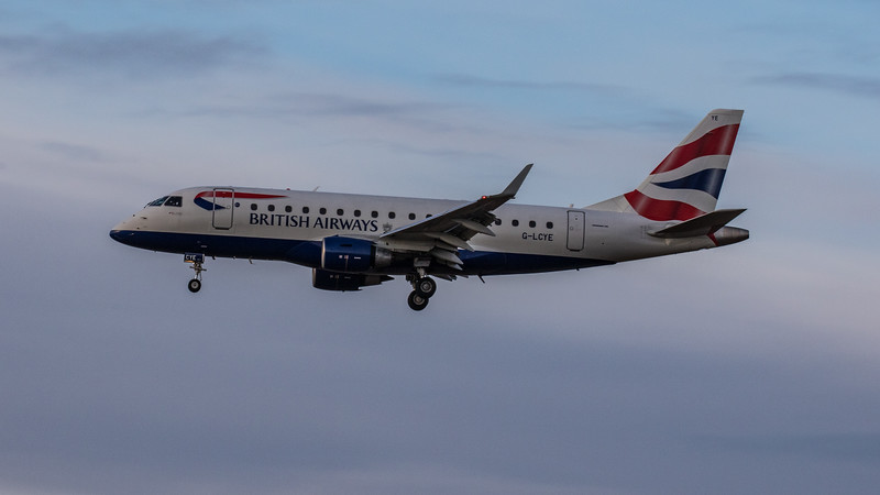 British Airways - Embraer E170-STD (G-LCYE) - Edinburgh Airport (January 2020)