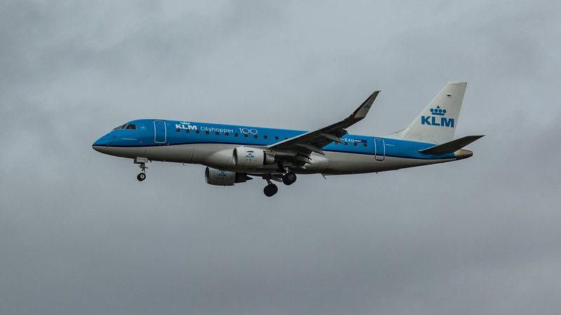KLM - Embraer E175-STD (PH-EXU) - Heathrow Airport (March 2020)