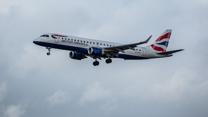 British Airways - Embraer E190-SR (G-LCYU) - Edinburgh Airport (February 2020)