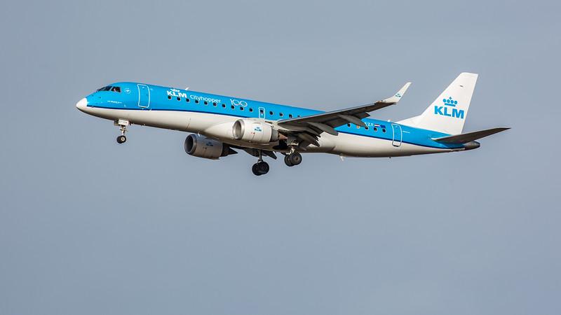 KLM - Embraer E190-STD (PH-EZF) - Edinburgh Airport (February 2020)