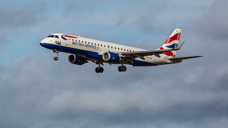 British Airways - Embraer E190-SR (G-LCYN) - Edinburgh Airport (February 2020)