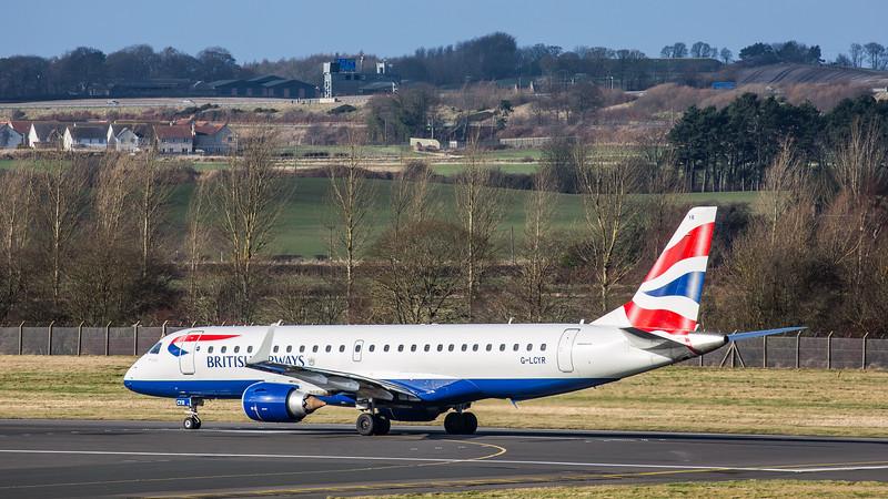 British Airways - Embraer E190-SR (G-LCYR) - Edinburgh Airport (February 2020)