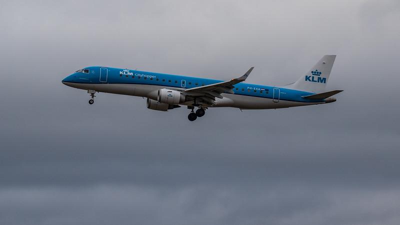 KLM - Embraer E190-STD (PH-EXA) - Edinburgh Airport (January 2020)