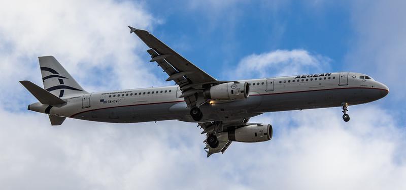 Aegean Airlines - Airbus A321-231 (SX-DVO) - Heathrow Airport (March 2019)