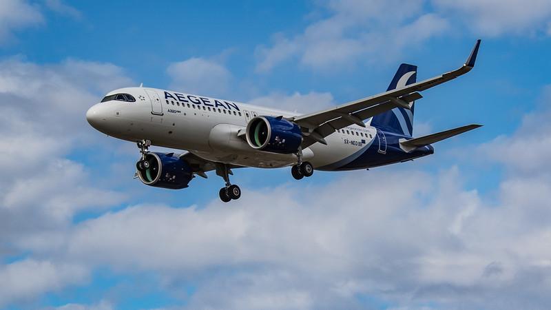 Aegean Airlines - Airbus A320-271N (SX-NEO) - Heathrow Airport (August 2020)