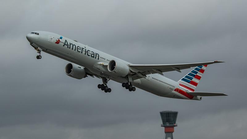 American Airlines - Boeing 777-323(ER) (N733AR) - Heathrow Airport (March 2020)