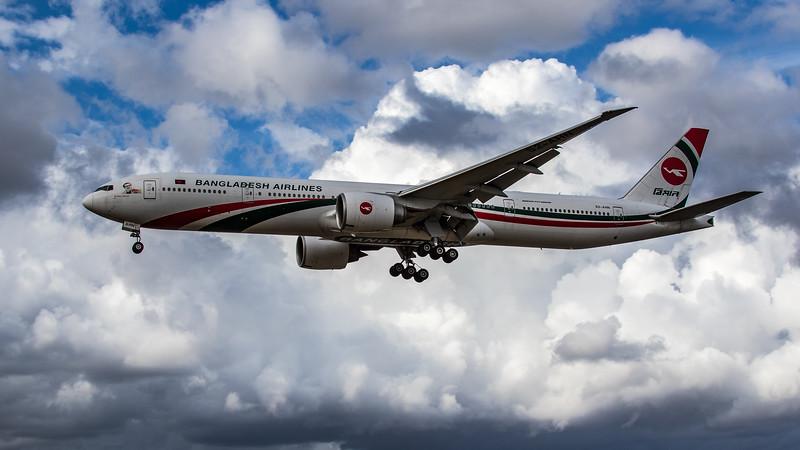 Biman Bangladesh Airlines - Boeing 777-3E9(ER) (S2-AHN) - Heathrow Airport (August 2020)