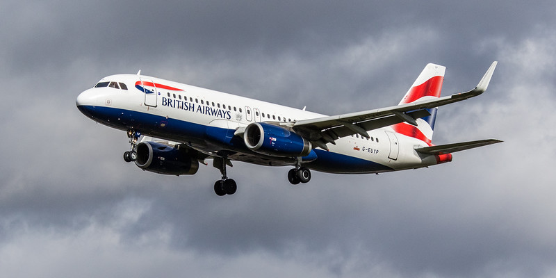 British Airways - Airbus A320-232 (G-EUYP) - Heathrow Airport (March 2019)