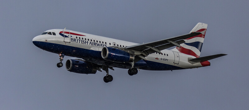 British Airways - Airbus A319-131 (G-EUPY) - Heathrow Airport (March 2019)
