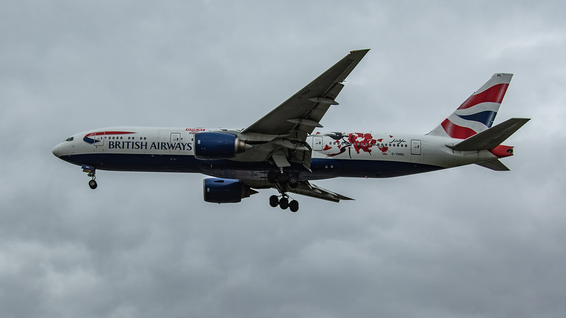 British Airways (GREAT Festival of Creativity)  - Boeing 777-236(ER) (G-YMML) - Heathrow Airport (March 2020)