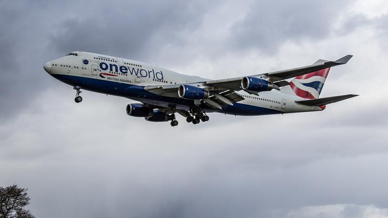 British Airways (One World Livery) - Boeing 747-436 (G-CIVZ) - Heathrow Airport (March 2019)
