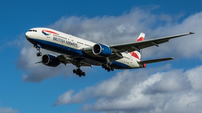 British Airways - Boeing 777-236(ER) (G-YMMR) - Heathrow Airport (March 2020)