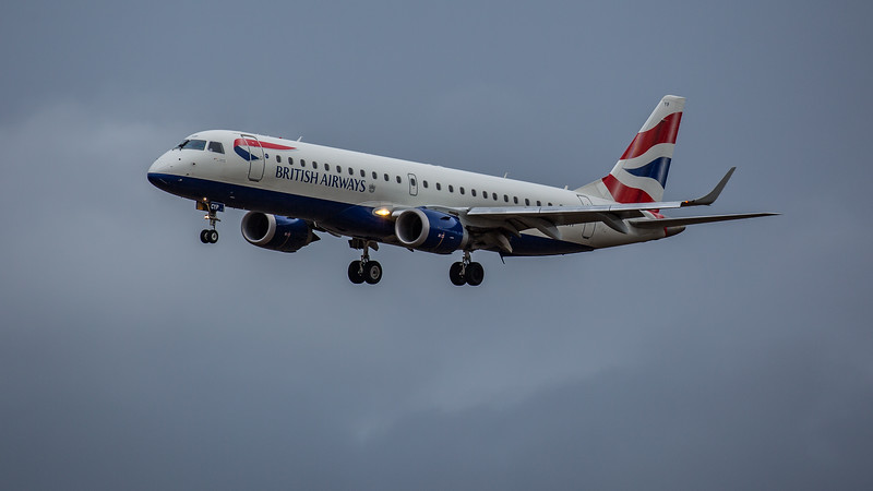 British Airways - Embraer E190-SR (G-LCYP) - Edinburgh Airport (February 2020)