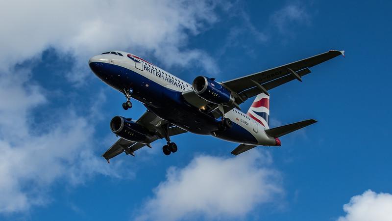 British Airways - Airbus A319-131 (G-DBCF) - Heathrow Airport (February 2020)