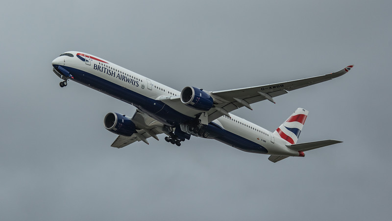 British Airways - Airbus A350-1041 (G-XWBB) - Heathrow Airport (March 2020)