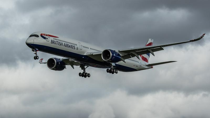 British Airways - Airbus A350-1041 (G-XWBE) - Heathrow Airport (February 2020)