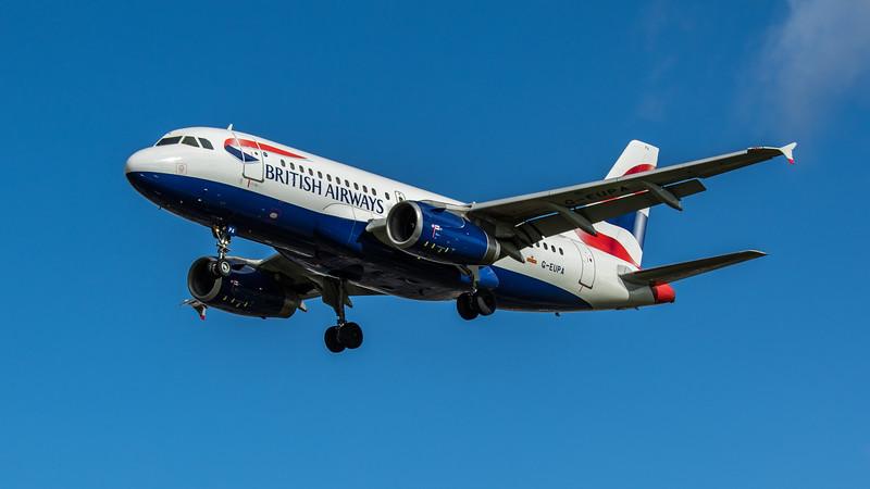 British Airways - Airbus A319-131 (G-EUPA) - Heathrow Airport (February 2020)